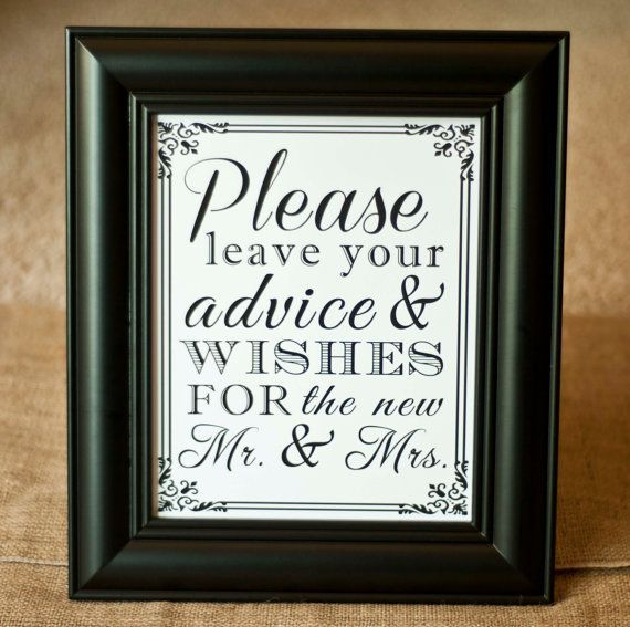 Wedding Guest Sign In Ideas: 8 X 10 Guest Book Wedding Table Sign