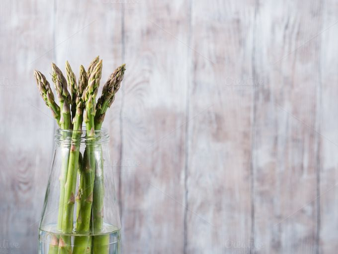 Asparagus in a bottle by Life Morning Photography on @creativemarket