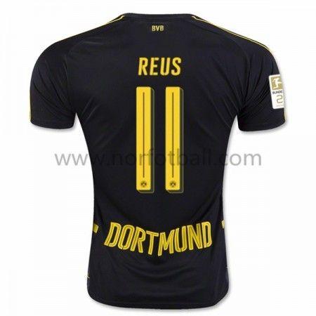 Billige Fotballdrakter BVB Borussia Dortmund 2016-17 Reus 11 Borte Draktsett Kortermet