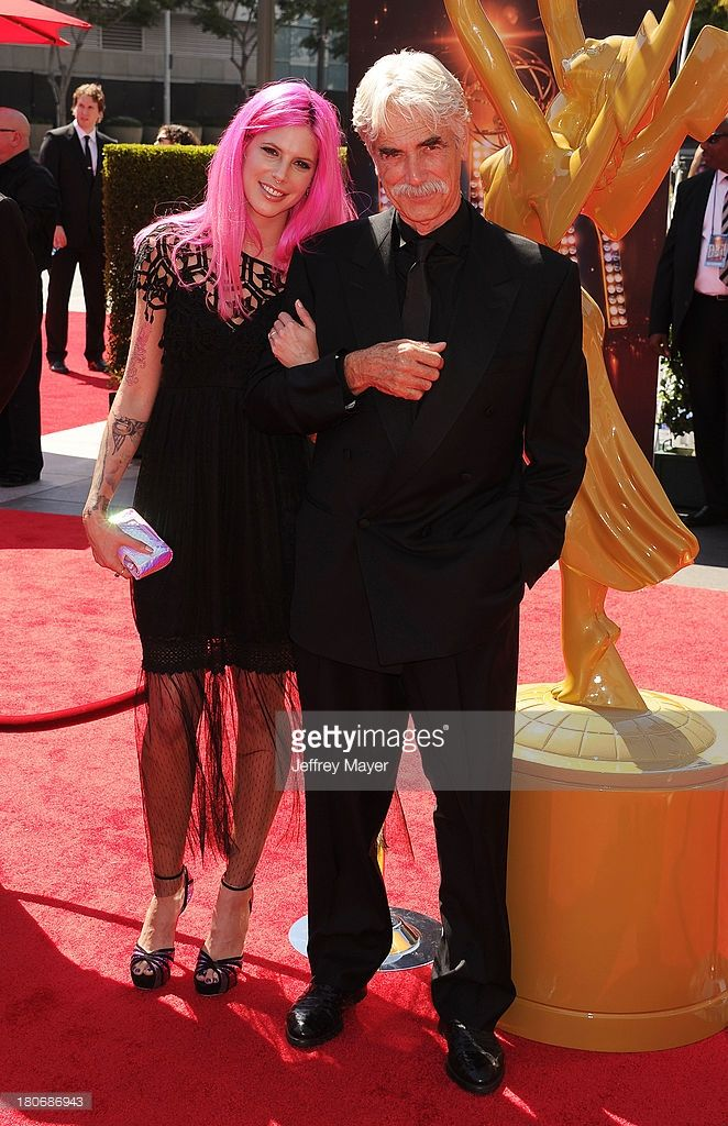 Actor Sam Elliott (R) and daughter Cleo Elliott attend the 2013 Creative Arts Emmy Awards at Nokia Theatre L.A. Live on September 15, 2013 in Los Angeles, California.