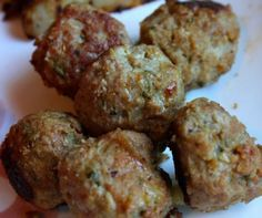 Fast and Easy-These meatballs are made from 99% fat free ground turkey breast. They can be added to a pasta dish, made into a sandwich, or eaten alone.6 meatballs=1 serving