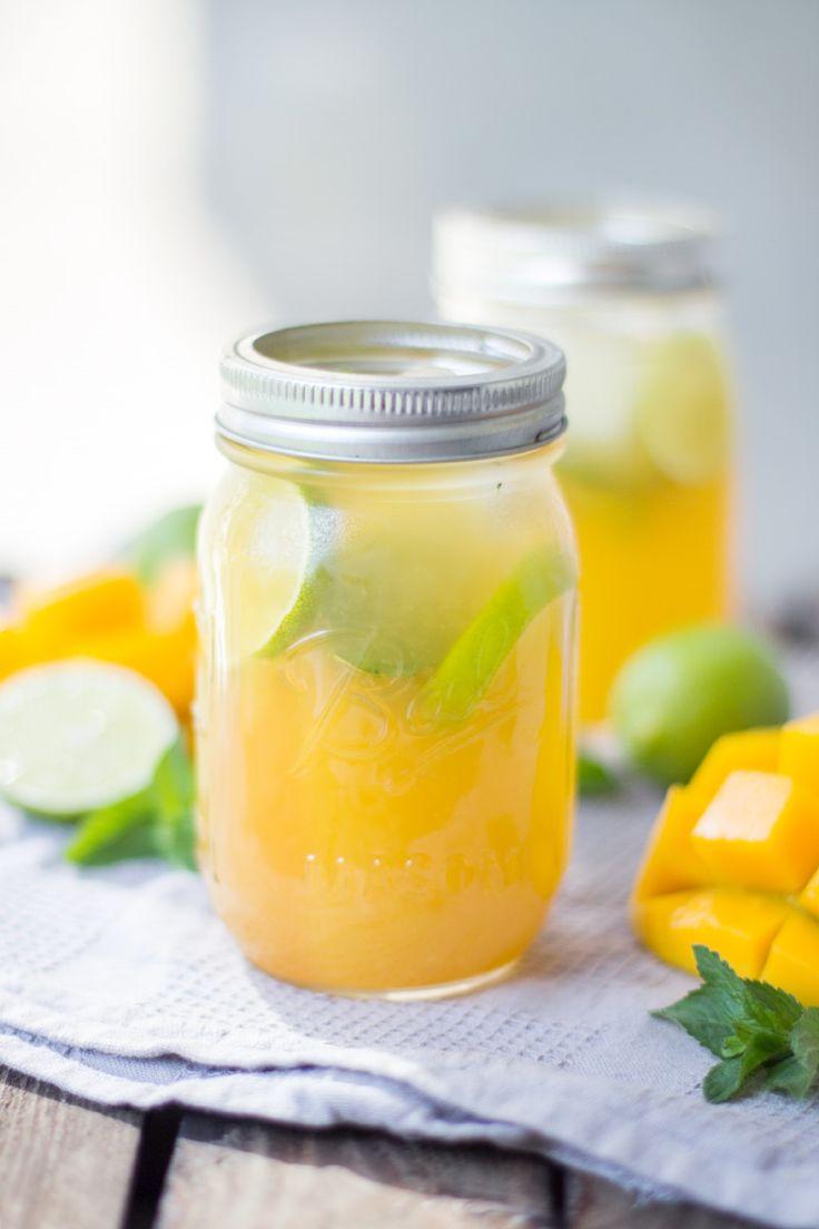 Mango Eistee - Super erfrischend für den Spätsommer