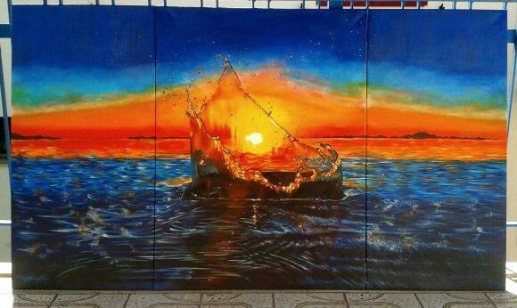 Sea Oil on canvas  140x80 cm Art by MaryAlice