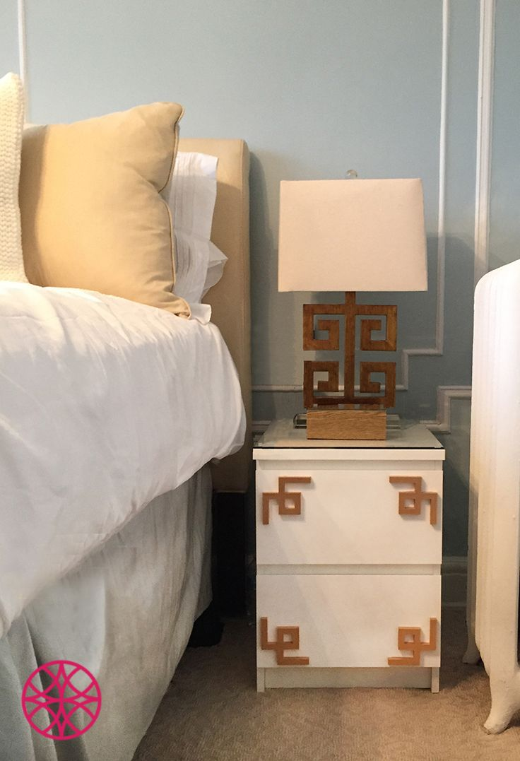 Ou0027verlays Greek Key Corners Adorn This Ikea Malm Nightstand