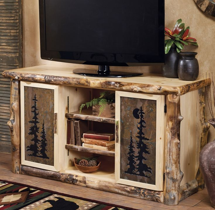 Best 25 rustic tv stands ideas on pinterest tv stand ideas for living room farm house - Meuble tv diy ...
