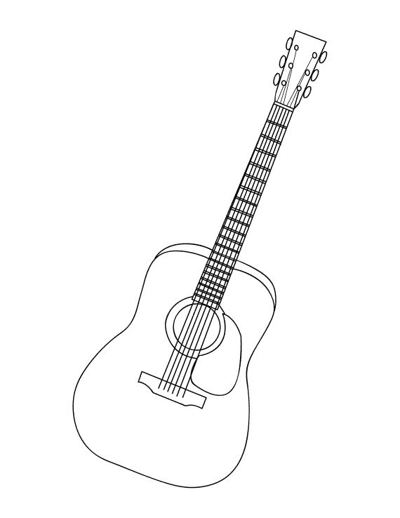 Guitar Coloring Pages Pdf : Best kids music lesson ideas images on pinterest