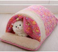 Produtos do animal de estimação Quente e Macia Casa Gato de Estimação Saco de Dormir Encantador Canil Cama de Gato Saco de Dormir Gato de Pelúcia 05