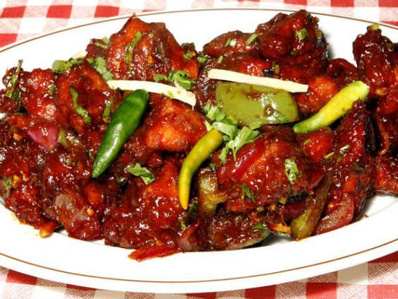 Hakka Chilli Chicken: The Hakka style chilli chicken is a very delicious dish that is available in all the Hakka restaurants. You can have it as a side dish or as a snack in parties.    http://www.boldsky.com/cookery/non-vegetarian/chicken/hakka-chilli-chicken-chinese-recipe-031617.html