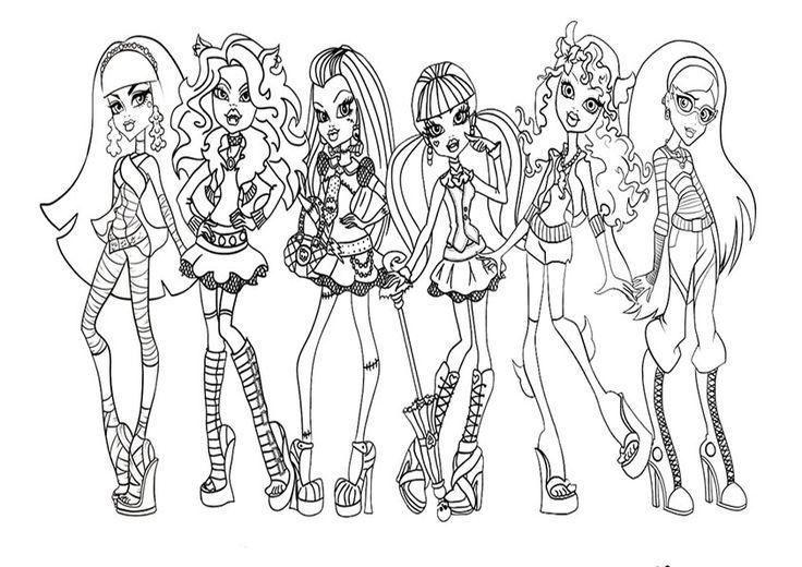 Malvorlagen Monster High Monster High Ausmalbilder Ausmalbilder Malvorlagen Halloween