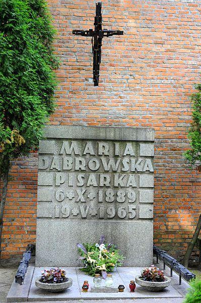 Grób Marii Dąbrowskiej Maria Dąbrowska's tomb