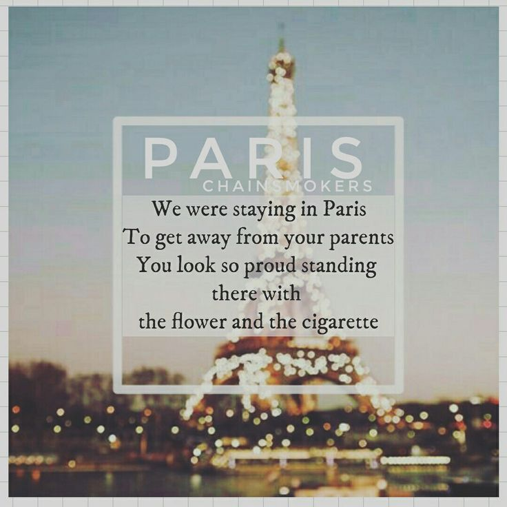Paris - Chainsmokers