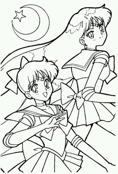 Color sailor moon pinterest for Sailor mars coloring pages