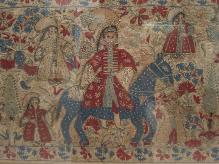 Greek embroidery at the Benaki Museum, Athens.