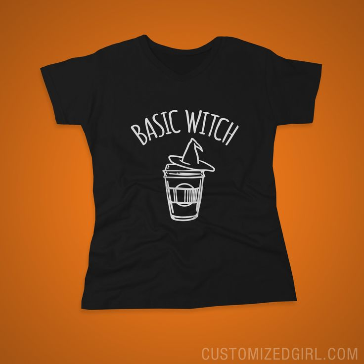 Basic Witch Coffee Shirt - Basic bitches turn into basic witches when Halloween rolls around. Grab your pumpkin spice latte and this tee to complete your #fall look. #halloween #basicbitch #graphictees