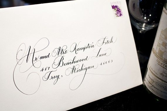 Hand Addressed Envelope.  Calligraphy for by DamnGoodCalligraphy