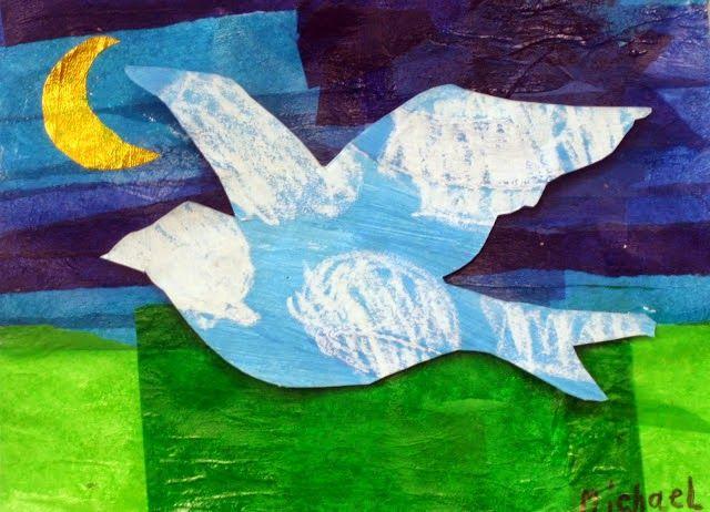 magritte landscape collage