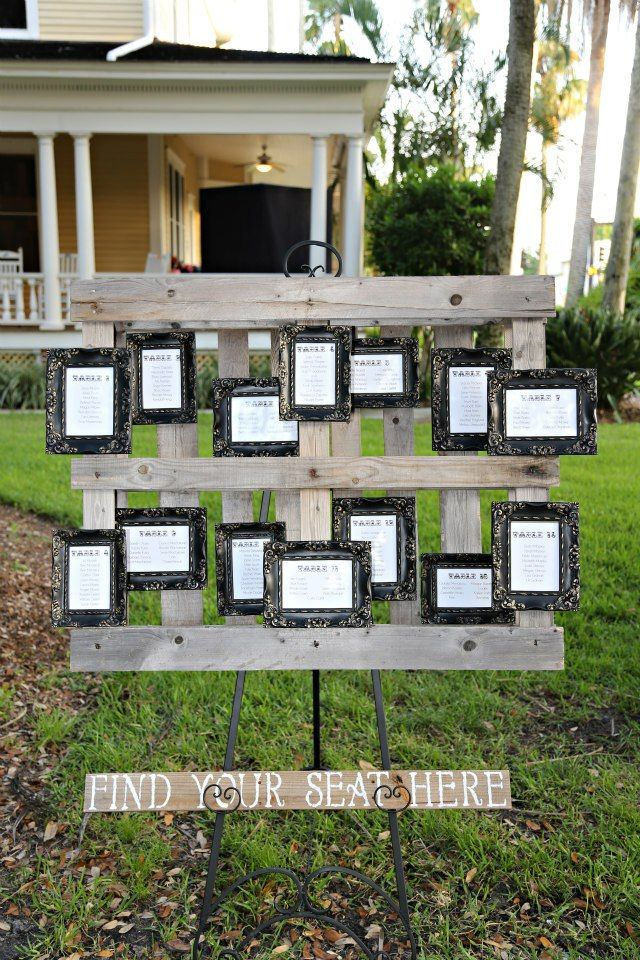 Pallet Seating Chart For Wedding