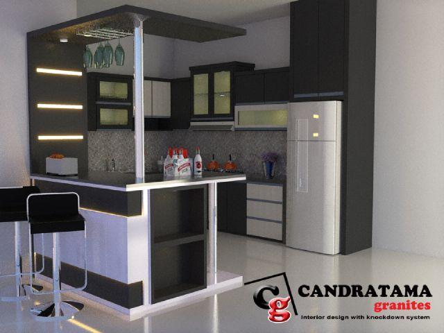 Pin Oleh Candratama Granites Di Kitchen Set 08113371733 Di 2020 Desain Interior Mini Bars Ide Dapur