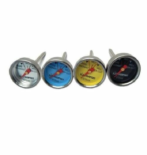 Starfrit Set of Four Silver Mini Steak Cooking Thermometers for BBQ and Grilling #Starfrit