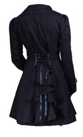 Classic Cotton Victorian Gothic Steam Punk Vampire Corset Riding Jacket Coat