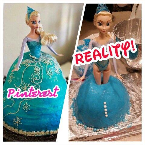 Frozen Cake Pinterest Fail Bolo
