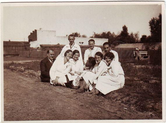 Vintage Photo  Scientists  Group photo  Men women photo