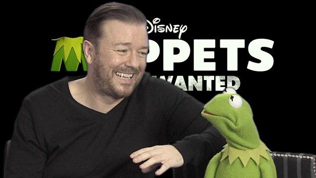 Ricky Gervais and Constantine unveil new Muppets Most Wanted clip | Mail Online