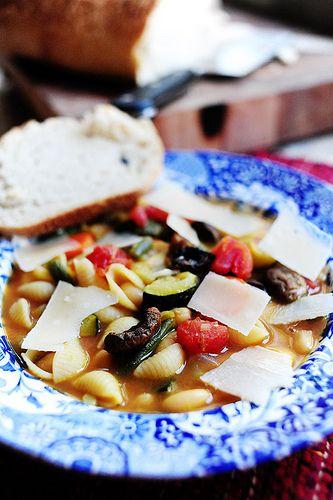 Roasted Vegetable Minestrone Recipe — Dishmaps