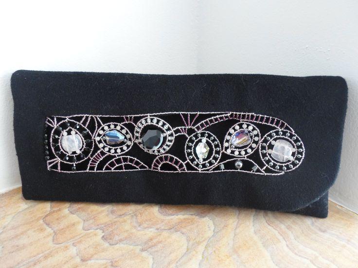 Handmade Cashmere beaded Clutch bag