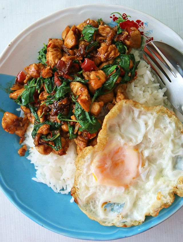 pad kra pao recipe 640x844 Thai basil chicken recipe (pad kra pao gai ผัดกระเพราไก่)