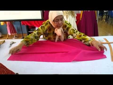 Teknik Membuat Sepasang Kurung Kedah Part 3 - YouTube