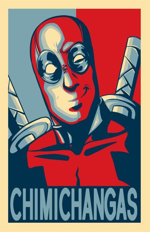 Deadpool Chimichanga Poster by AerianR.deviantart.com on @deviantART