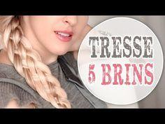 Tresse à 5 brins, simple et rapide ❤ Tuto coiffure facile à faire soi même - YouTube