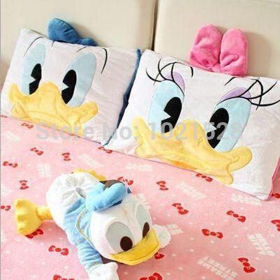 Aliexpress.com: Comprar 60 * 40 cm suave pato Donald y Daisy funda de almohada fundas de colchón de cama niños fundas de almohada decorativa case para almohada de caso razr fiable proveedores en twinkle star 1 2 3
