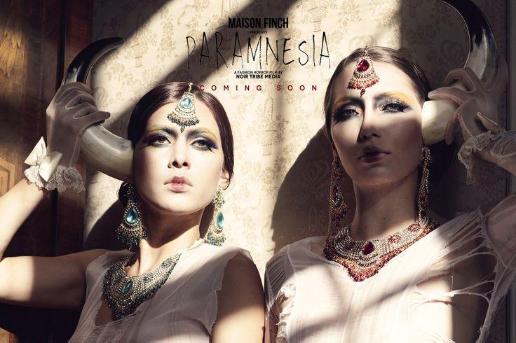 MAISON FINCH / Noir Tribe Media  PH: Ace Amir Models: Veronica Alvarez / Carolina Zapata Jaramillo  #MaisonFinch #MF #MaisonFinchArchive