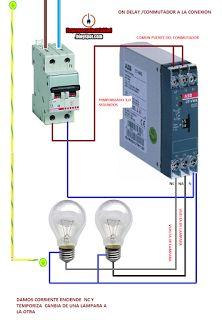 Esquemas eléctricos: on delay conmutador a la conexion