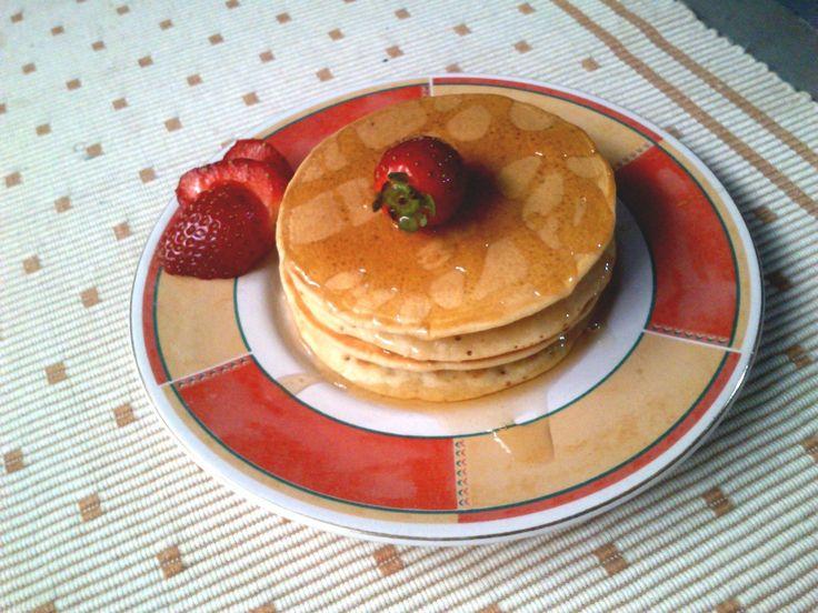 Plain Pancake Original with maple syrup