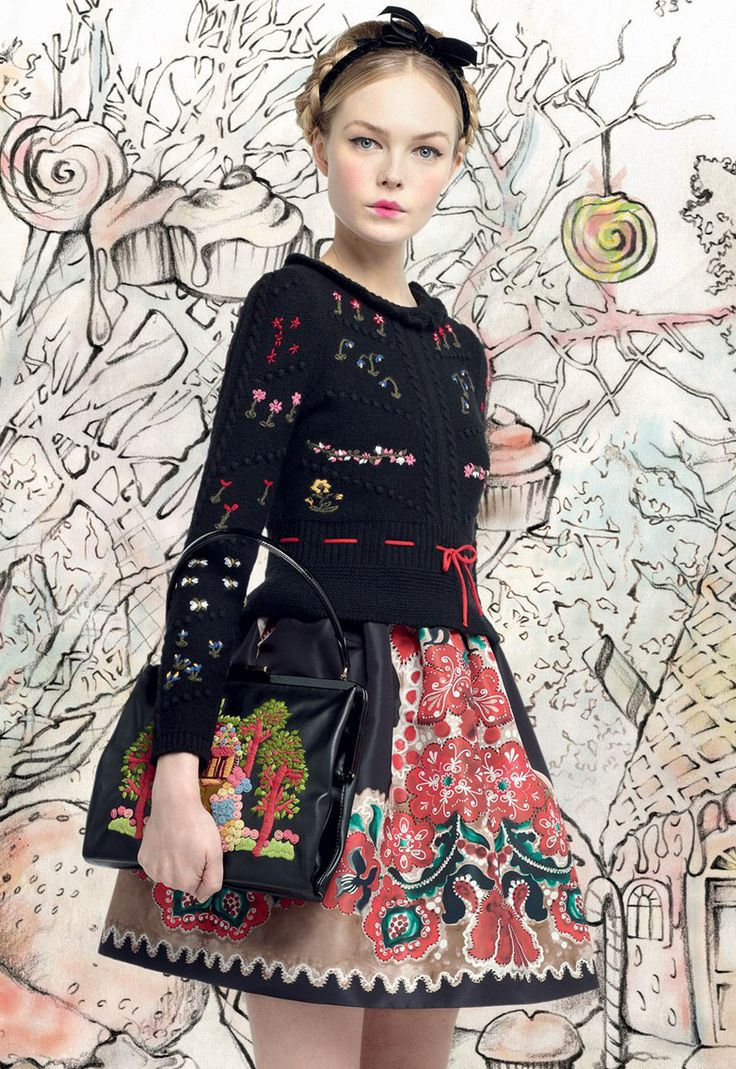 Red Valentino - I really like the idea of incorporating illustrations with photos I think this could be a good idea for later work. I like the tones, and muted colours.