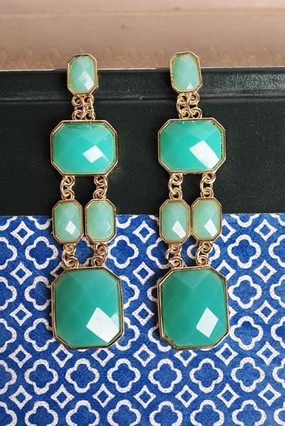 The Great Escape Earrings: Green Earrings, Accessories Accessories, Coral Jewels, Escape Earrings, Earrings 18, Emeralds Earrings, Dangle Earrings, Outfit Accessories, Jewelry Styles