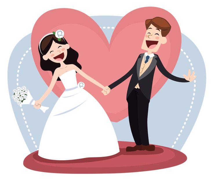 Октября день, открытка жених и невеста прикольная
