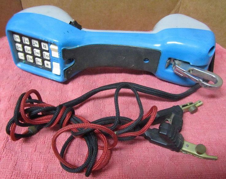 Vintage GTE Lineman Handset  / Butt Set Tester Telephone USED/UNTESTED #GTE