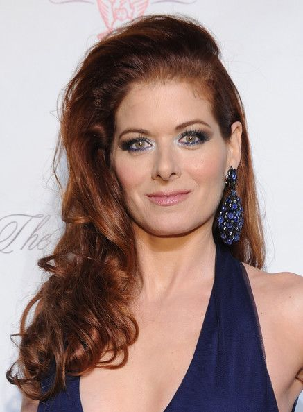 Debra Messing Long Curls - Debra Messing looked oh-so-glam with her teased curly 'do during the Angel Ball.
