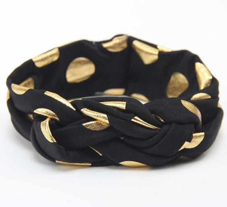 baby girls dot braided top knot twisted turban headband elastic for hair head ba…