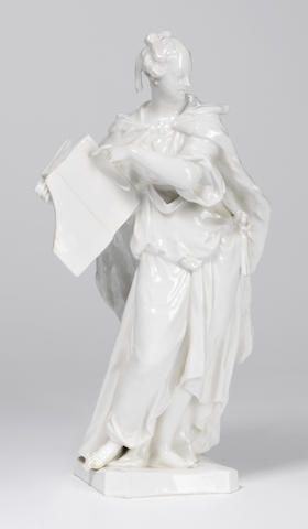A large documentary Berlin white allegorical figure Circa 1765