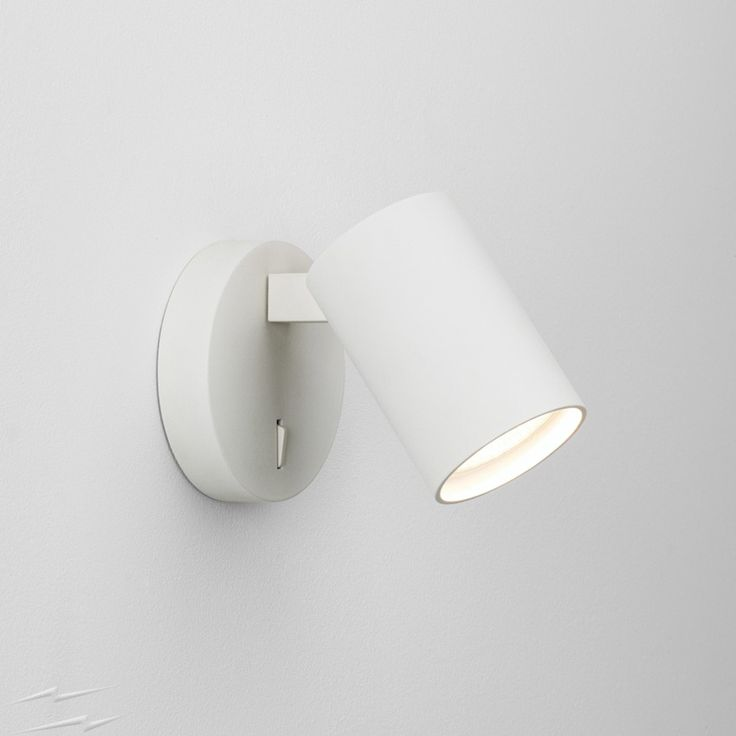 AX7940 - Ascoli Single Switched Wall Spotlight in Painted White, IP20 Adjustable Spot using 6W GU10 LED