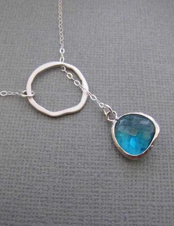 ORing and Emerald Necklace in STERLING SILVER by RedEnvelopeGifts, $26.00