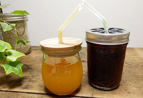 """野菜ジュースとゼラチンで""""飲むゼリー""""を作ってみました。話題のガラスジャーで作れば見た目もオシャレ!"""