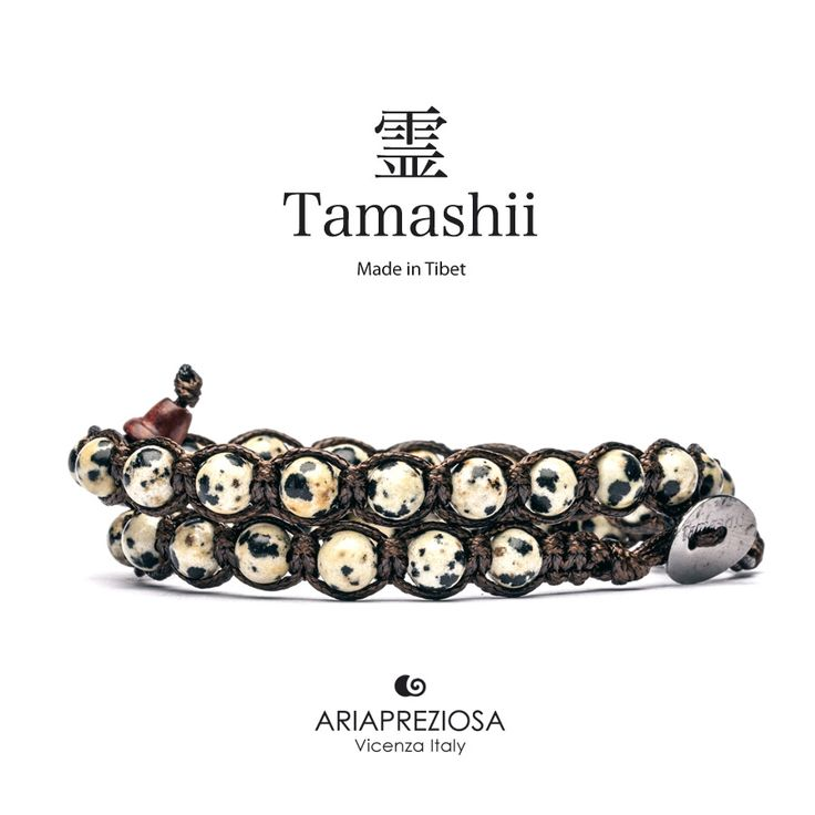 Tamashii - Bracciale Lungo Tradizionale Tibetano 2 giri Diaspro
