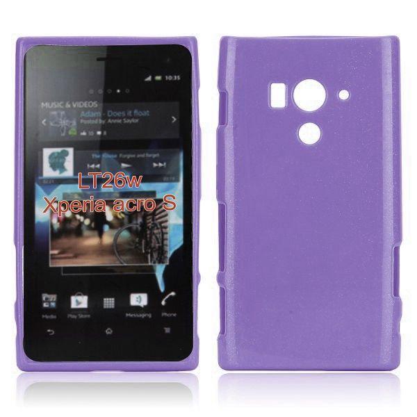 Glitter Shell (Lilla) Sony Xperia Acro S Deksel