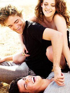 Robert Pattinson, Kristen Stewart, Taylor Lautner in Vanity Fair, 2008